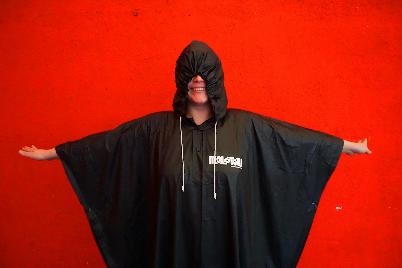 Logo rain poncho black