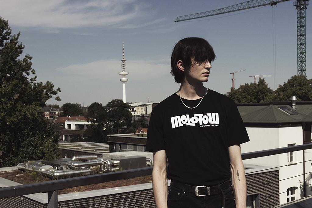 Logo Untailliertes Shirt Black